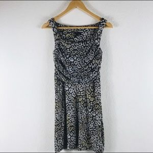 Ann Taylor Animal Print Sleeveless Dress Size 0